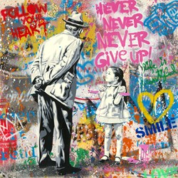 Caught Red Handed by Mr. Brainwash - Original on Paper sized 22x22 inches. Available from Whitewall Galleries